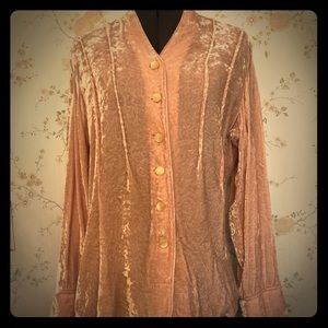 JJill crushed velvet blouse